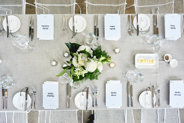 Table setting at ALTO
