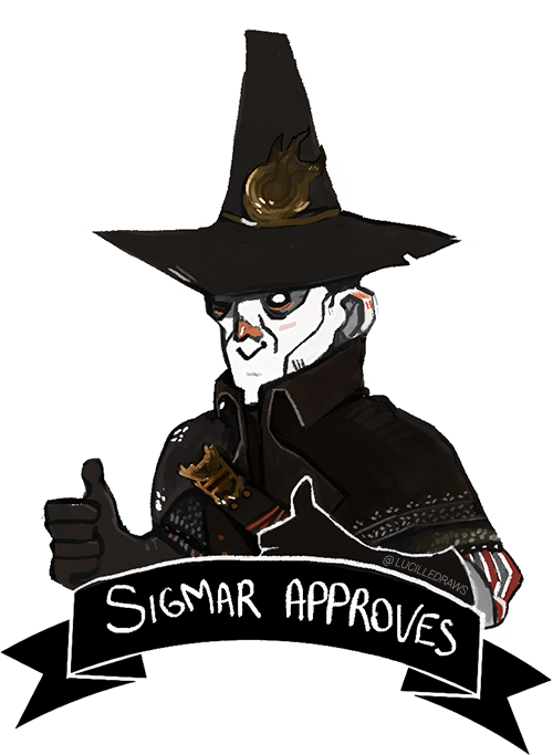 Sigmar Approves - Sigmar Approves indeed. It's hard to not see the everyday use of this image.By: lucilledraws