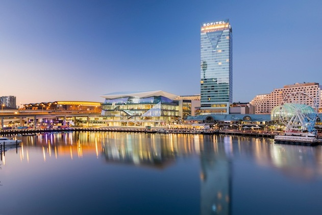 Adjacent Sofitel Darling Harbour hotel with 590 rooms -