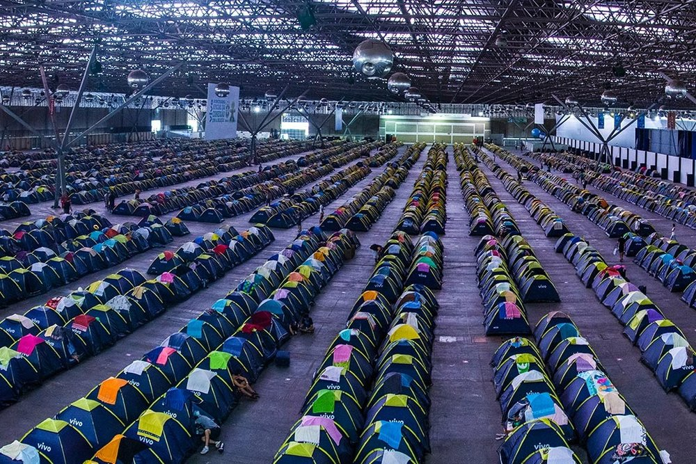 """The largest GEEK CAMPOUT in the world, where thousands of """"Campuseros"""" pitch their tents to extend the event well into the night. -"""