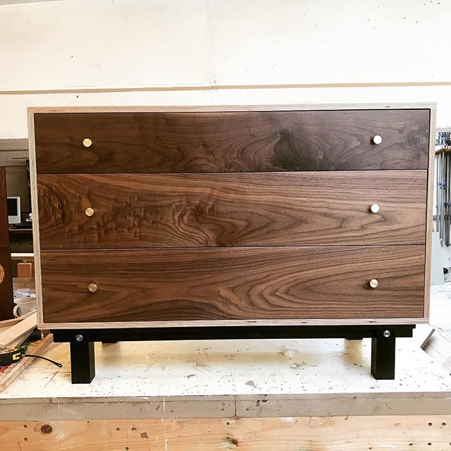 A couple more shots of or last walnut cabinet to leave the shop.  Our new range will take design cues from our Birch cabinets,  Bringing a new take on plywood furniture.  For more American black walnut furniture contact us about bespoke pieces.