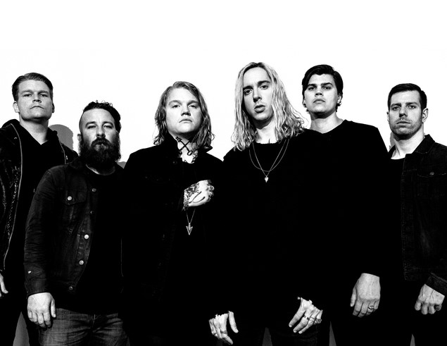 Photo credit: Nick Fancher; Left to right: Chris Dudley, Tim McTague, Aaron Gillespie, Spencer Chamberlain, James Smith, Grant Brandell