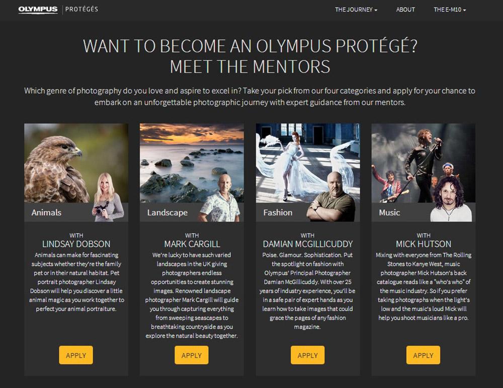 Olympus Protégé Campaign Lindsay Dobson