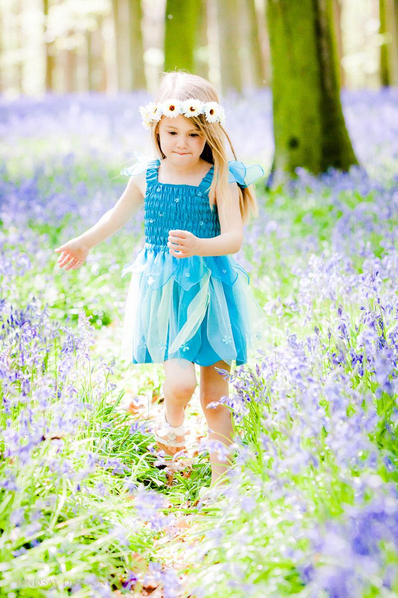 childrens photoshoot bluebells west sussex