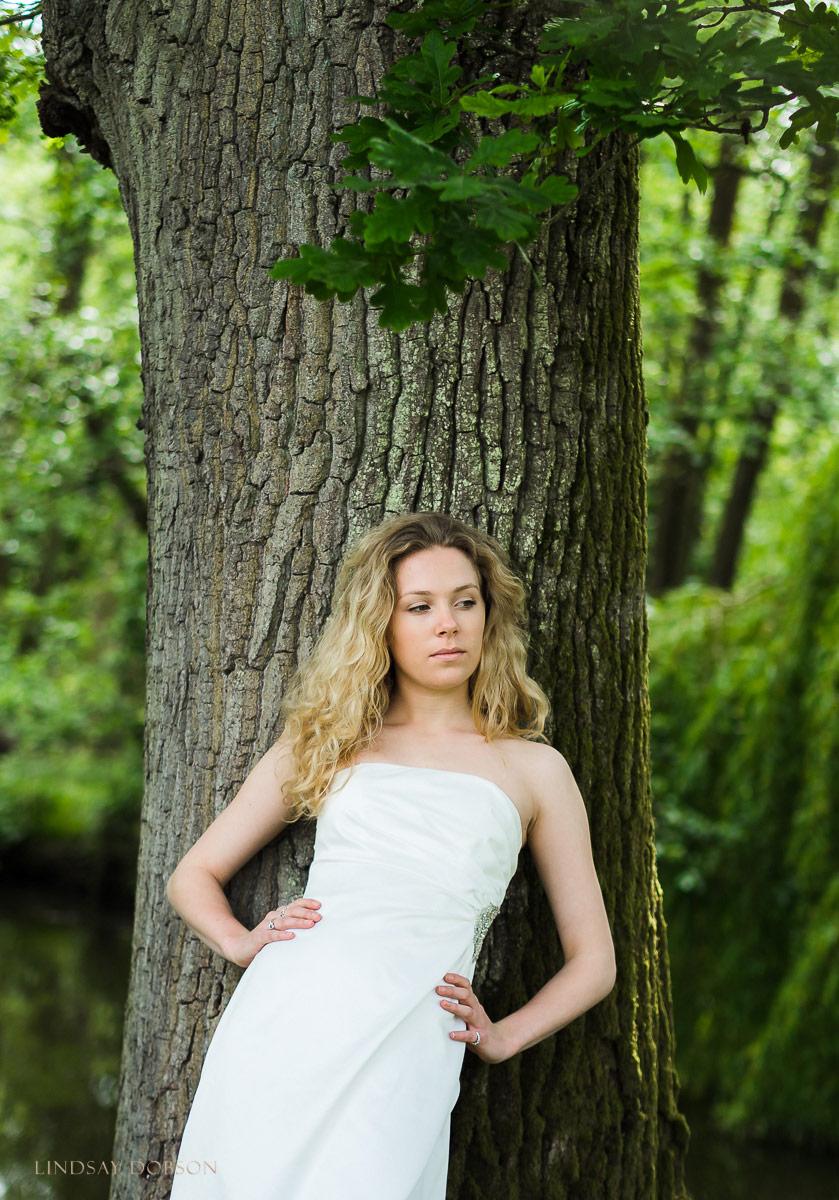 wedding dress bride photoshoot west sussex