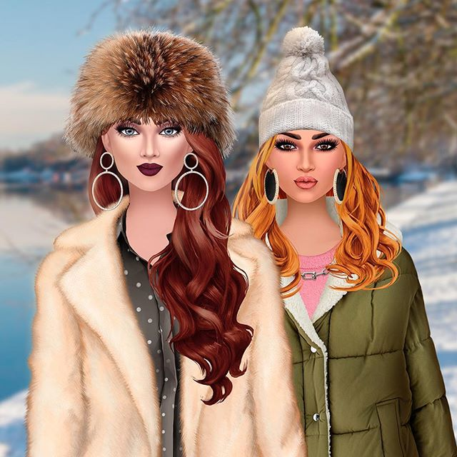 Getting ready for the snow with style! 🤩 #dressupgames #snow #fashionapp #femalegamer #trendystylistgame #styling