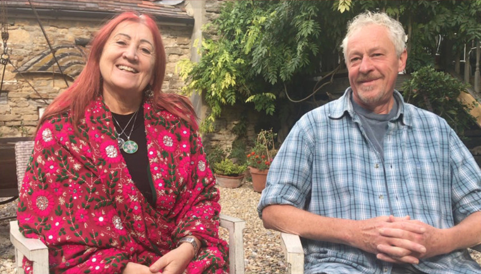 Lynne Franks with Clive de Carle