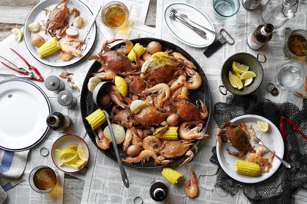 """""""Let the Good Times Roll With a Cajun Seafood Boil"""" The Wall Street Journal"""