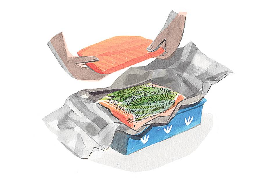 """""""How To Make Gravlax (and Save Big on Cured Salmon)"""" The Wall Street Journal"""