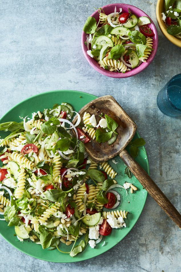 """""""Pasta Salad Sheds Some Carbs for Summer"""" The Wall Street Journal"""