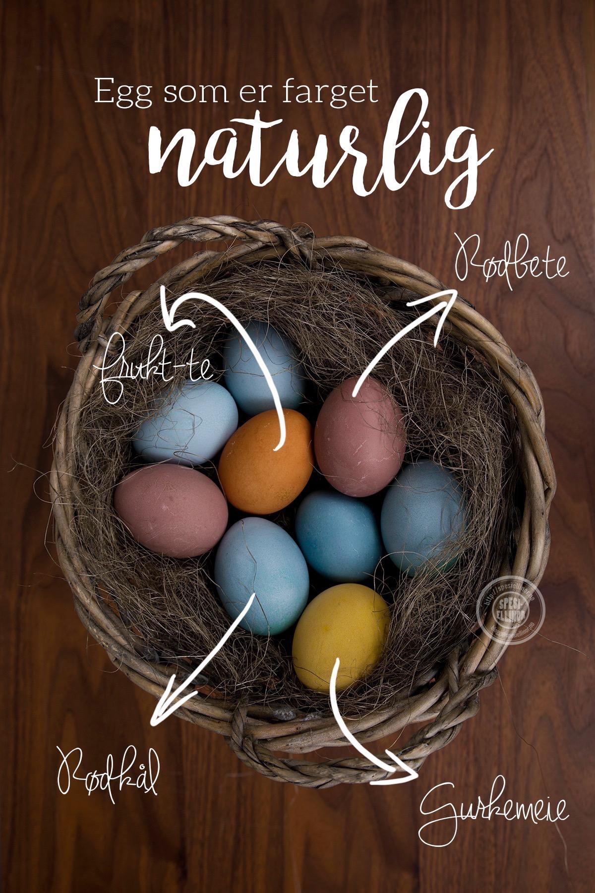 fargede egg