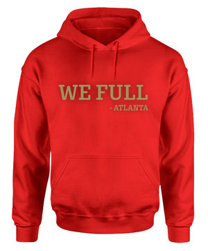 63101130d We Full - Red Hoodie (gold print) — Grady Baby Co