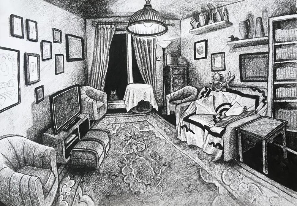 'Living Room', Made during my residency