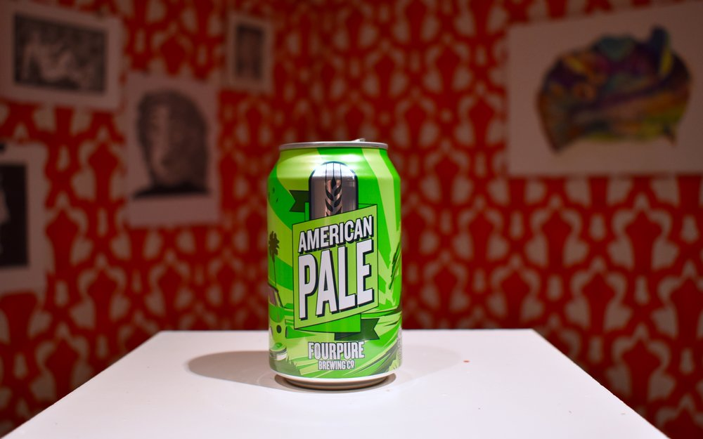 A Fourpure American Pale in front of my installation