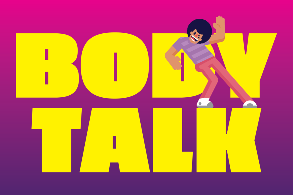 Body Talk - Body Talk is a family party game where players act out words, without talking, using only certain body parts while the other players try to guess the word.
