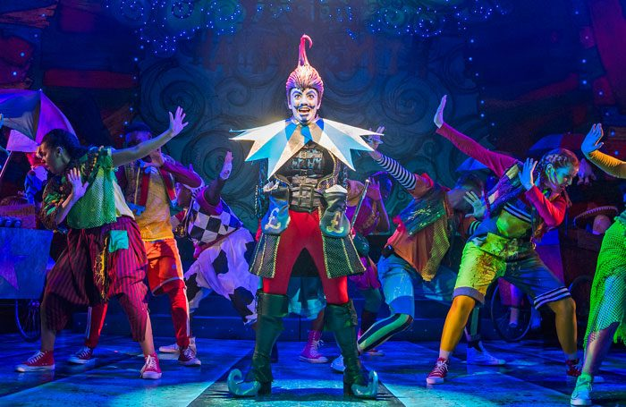 Jack and the Beanstalk by Joel Horwood   For: Lyric Hammersmith Director: Sean Holmes and Jude Christian Designer: Jean Chan Lighting: Tim Deiling Composer: Corin Buckeridge Choreographer: Lainie Baird