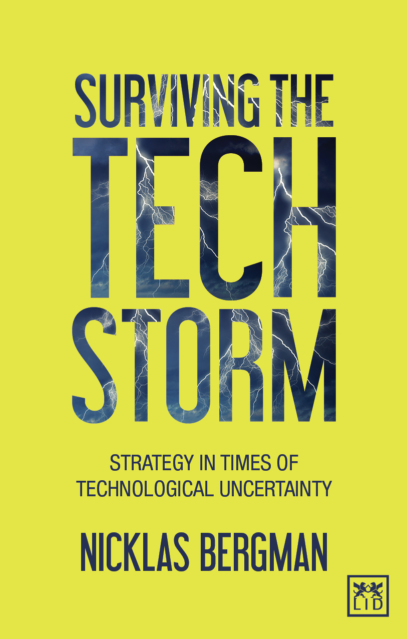 Surviving the Techstorm - Strategy in Times of Technological Uncertainty (2016) - This groundbreaking and highly visual book presents a framework for understanding these times of enormous technological uncertainties. The author, an entrepreneur turned technology investor turned futurist, argues that by combining curiosity and understanding, we can gain insight into and take advantage of the opportunities that will come from emerging technologies. This book offers a new perspective on the next technological paradigm, a clear view of the megatrends that are shaping our future and a complete toolbox on how to handle the upcoming technological revolution from a strategic perspective. With a step-by-step approach to the analysis of emerging technologies, assessing their business implications and adapting to a new, uncertain environment. In addition, there are unique insights into the works of leaders from the Swedish tabloid Expressen, furniture giant IKEA, music unicorn Spotify and computational powerhouse Wolfram Research.