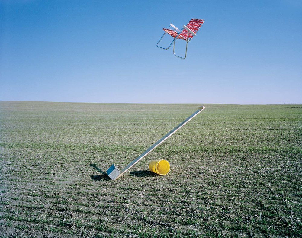 "ADAM EKBERG |  Lawn Chair Catapult,  2017, archival pigment print, 20"" x 24"""