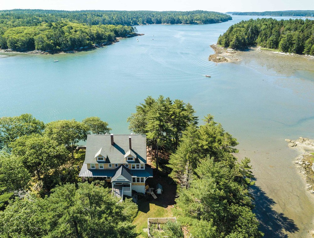 An aerial view of the Lashley's home, Ledgemere.