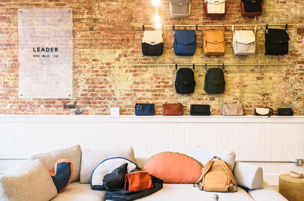 By chance and by appointment, the Leader Bag Co showroom is a stylish addition to Alfred Street.