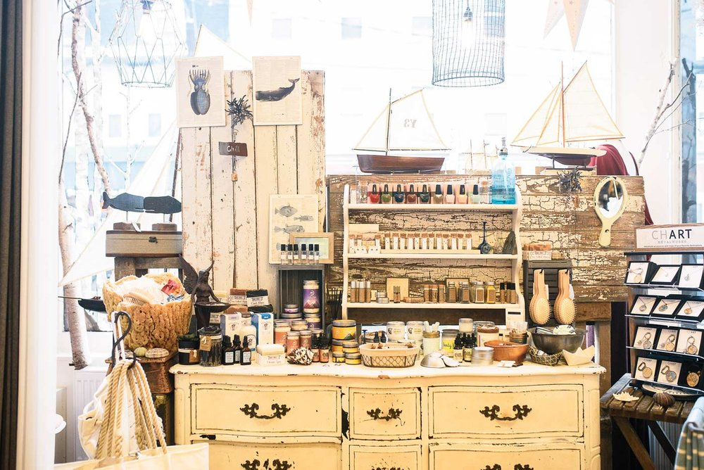 At Suger, home of the Angelrox collection of women's wear, founder Roxi Suger carries a diverse mix of beauty products, jewelry, and accessories from local makers and global artisans.