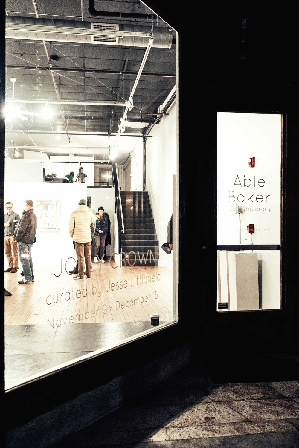 Able Baker Contemporary features group shows curated by artists.