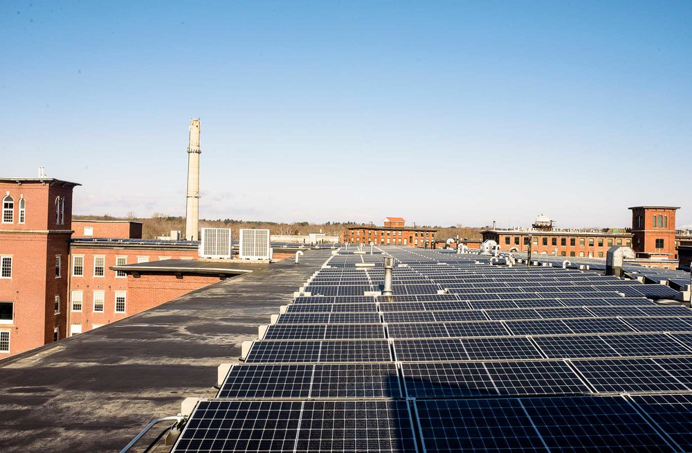 The solar project, comprised of nearly 1,200 panels, is the largest privately-funded array of its kind in Maine and will produce enough energy to meet the electrical needs of the building's 100 residents.
