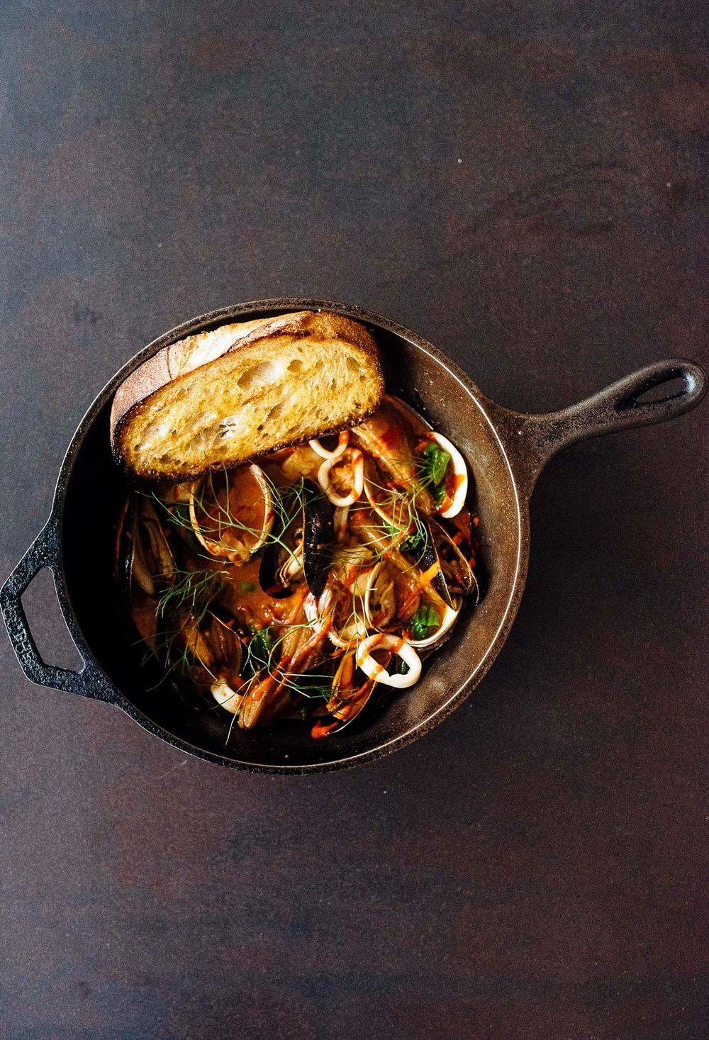 The seafood stew is a permanent menu fixture that is the brainchild of both Eliot and Olson, combining classical and modern technique to showcase the quality of the components.