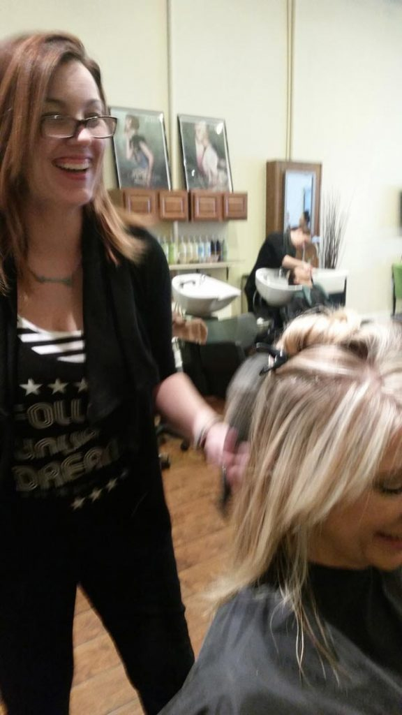 Stephani Wolfe and a client