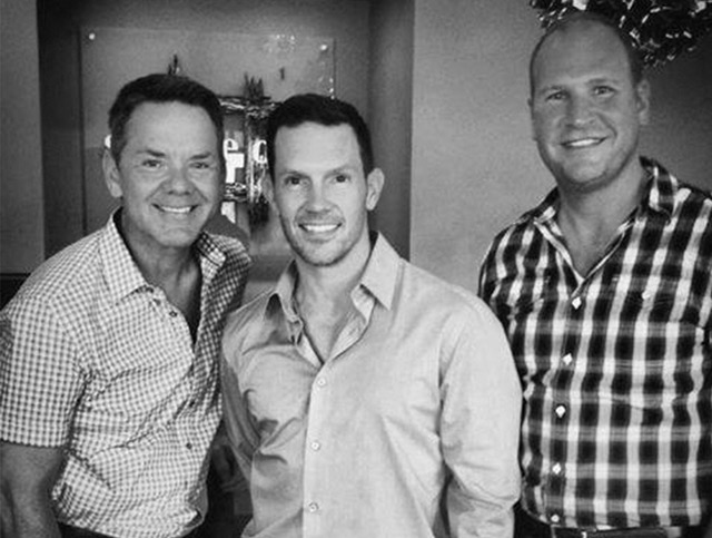 Brent Johnson, Doug Henderson and Josh Stucky, owners of four Square One salons in Dayton and Columbus, Ohio. Source: Facebook