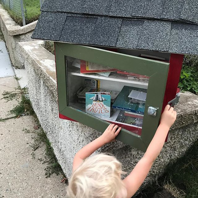 Dropping some #LaunchLadies love in our local Little Free Libraries.