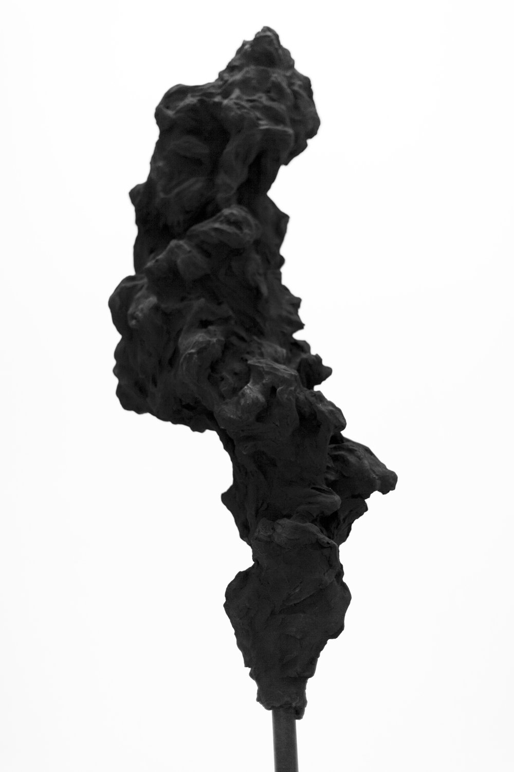 Cloud Totem No.2,  2014    Charcoal powder, resin and steel, 300 x 60 x 60 cm