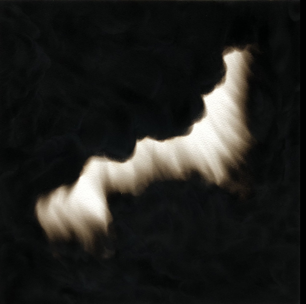 Equivalents No.13 , 2018  Candle soot on paper 40 x 40 cm