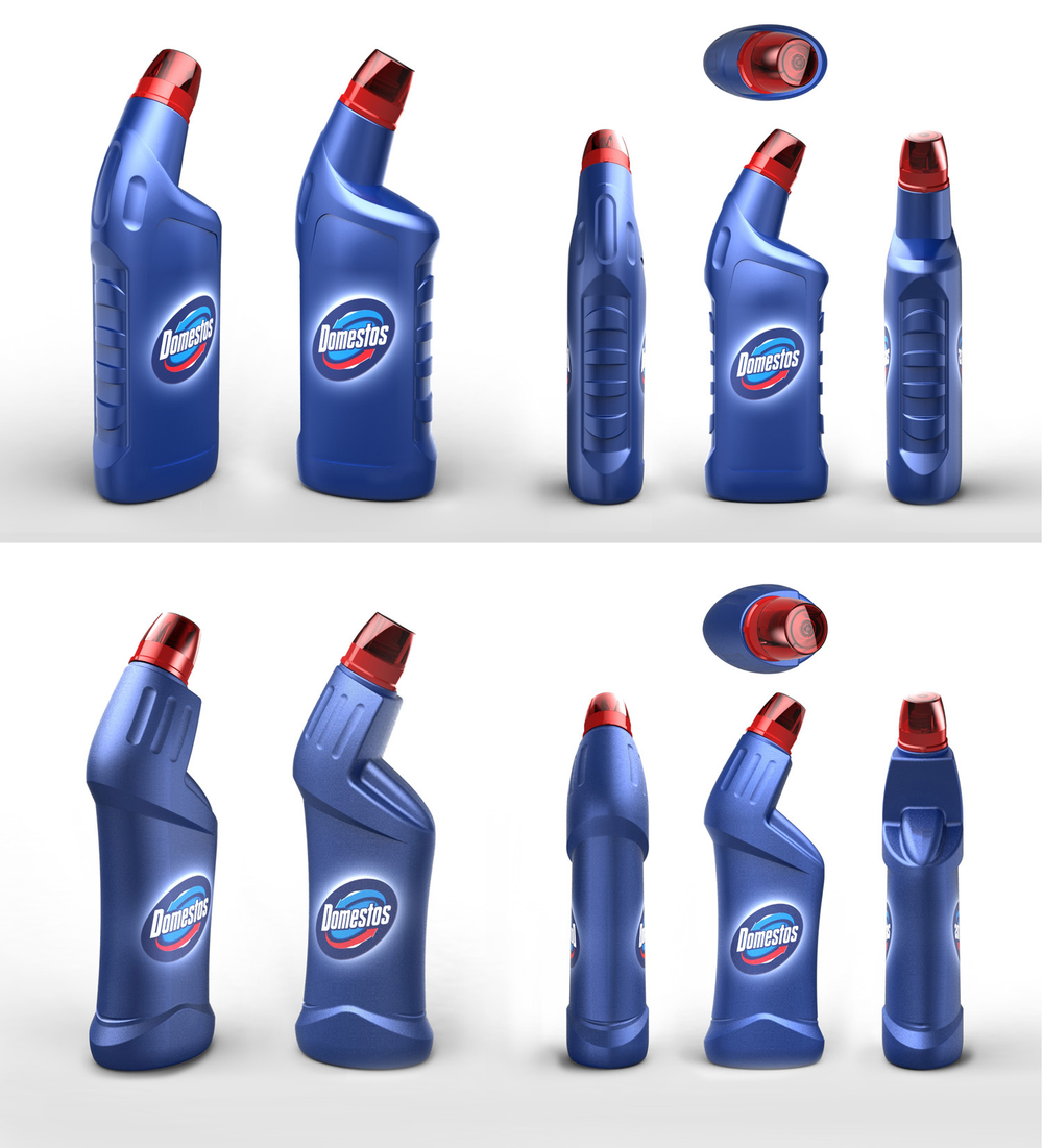 As the bottle concepts were iterated in 3D CAD, we considered appropriate dimensions by consulting ergonomic data on hand sizes and grip forces, considering plastic wall thickness and the likely 'squeezable' area we should provide. Balancing this with aesthetic considerations required co-designing between product designer and mechanical engineer