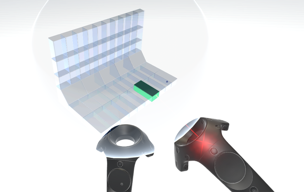 The same feature, prototyped and in use in VR.