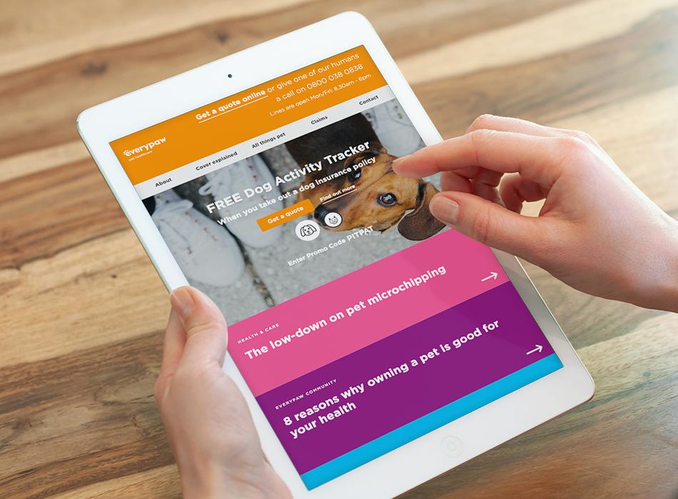 Everypaw : Pet insurance e-commerce site