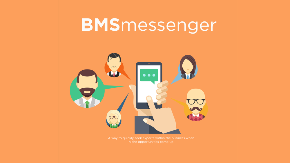 This concept provided a way for BMS brokers to quickly find and contact others within their company who have different industry specialisms.