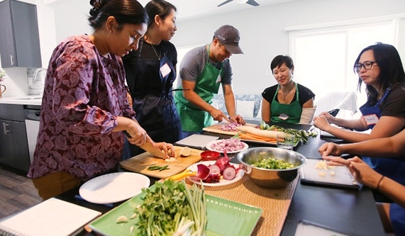 """The League of Kitchens - """"The League of Kitchens is a culinary dream-team of immigrants from around the world who will welcome you into their homes and teach you their family recipes."""""""