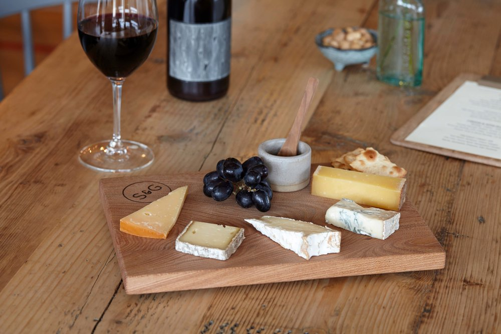 Five cheese board