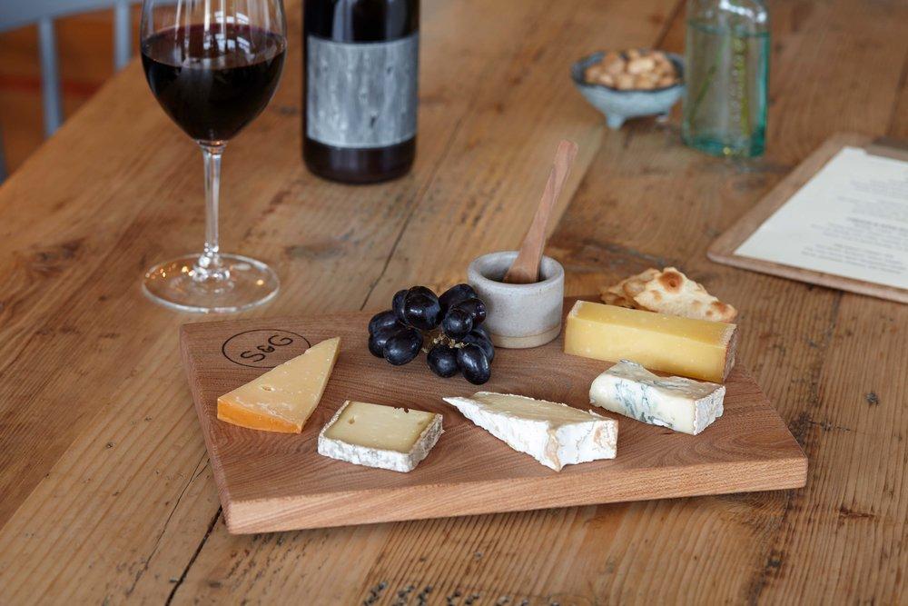 Five cheese board