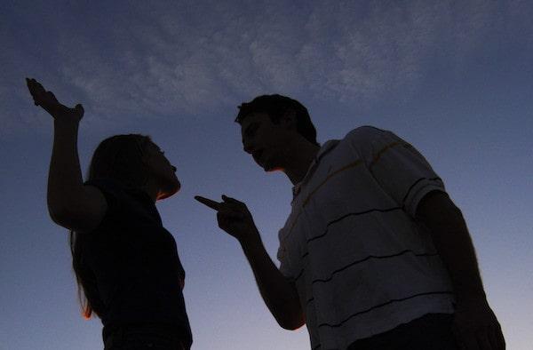 Couple having disagreement