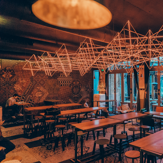 Sputnik - Here you can enjoy your drink in the retro space inspired atmosphere of a fine cocktail bar.Hours 09:00 - 02:0017 Yanko Sakazov Blvd.