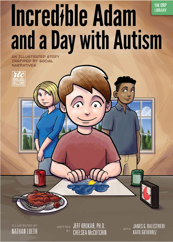 Based on dozens of intensive interviews with parents, clinical psychologists, teachers, and speech and occupational therapists,  Incredible Adam  is the illustrated fictional story of Adam, a boy diagnosed with autism spectrum disorder. The story follows a social narrative format to depict a typical day in Adam's life within his therapeutic residential school. From the time Adam wakes to the hour he sleeps again, his day presents him with successes to experience and challenges to overcome. With the support of his caregivers and family, he is able to use tools he's learned to help with attention, engagement, and regulation of his behavior. Offering unique insight and understanding into the journey taken by lower skilled children with autism spectrum disorder,  Incredible Adam  offers parents, caregivers, teachers, and therapists a special tool to help the children in their lives.   Paperback-   $16.00