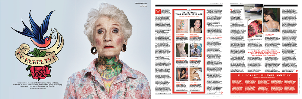 STYLIST - NO REGRETS? THE RISE OF TATTOO CULTURE