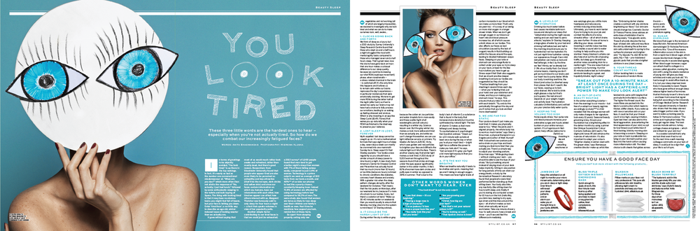 STYLIST COVER FEATURE - YOU LOOK TIRED