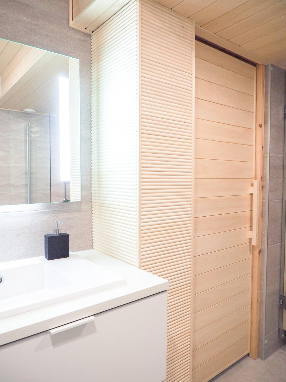 Rivitalohuoneiston kylpyhuone -