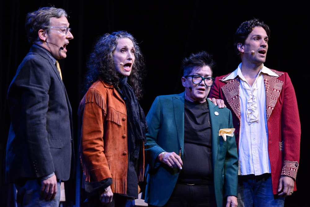 24HRMU18 Jeremy Shamos, Bebe Neuwirth, Lea DeLaria and Will Swenson Photo © Howard Sherman 24N_0684 copy.jpg
