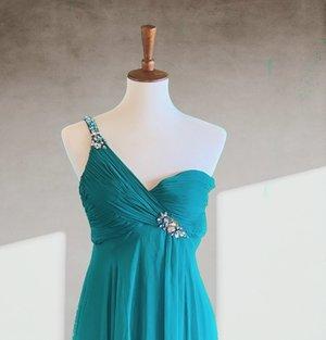 654d8a19f231 FLASH by Marc Duggal Maxi Chiffon One Shoulder Dress ...