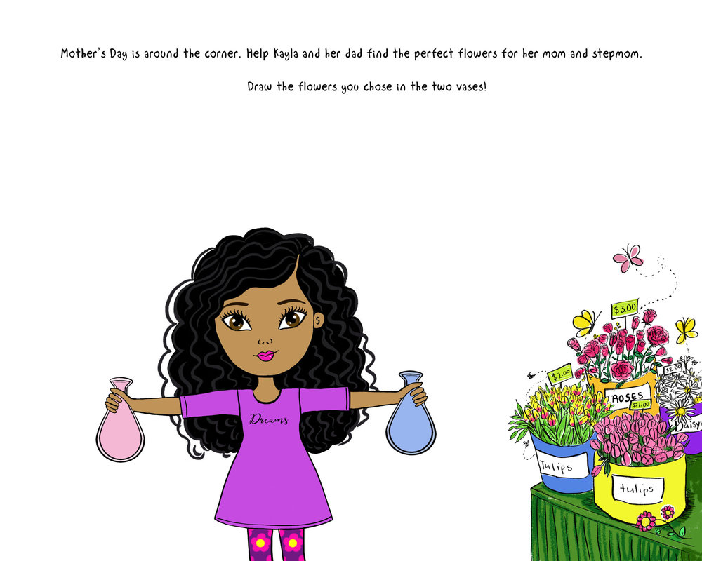 18 inch doll activity book for stepfamilies