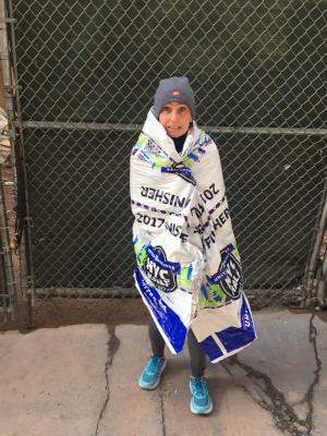 Me, after the 2017 New York City Half Marathon